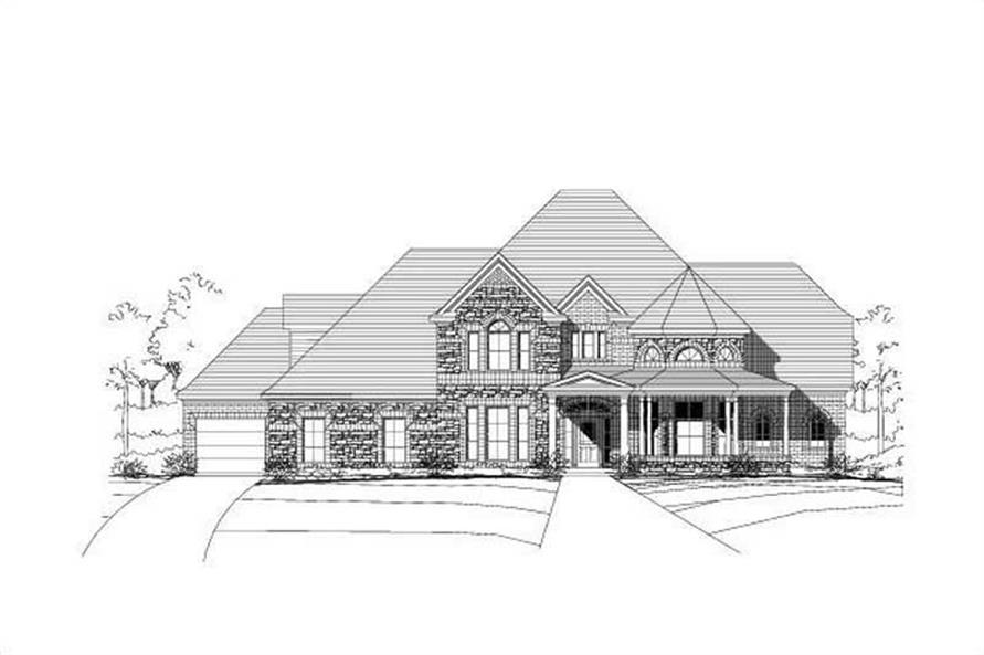 5-Bedroom, 5336 Sq Ft Luxury Home Plan - 156-1410 - Main Exterior