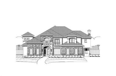 5-Bedroom, 5285 Sq Ft Luxury House Plan - 156-1411 - Front Exterior