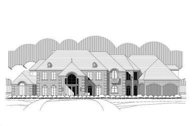 5-Bedroom, 5352 Sq Ft Luxury House Plan - 156-1412 - Front Exterior