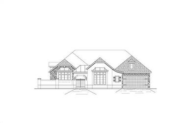 4-Bedroom, 3566 Sq Ft Country House Plan - 156-1414 - Front Exterior