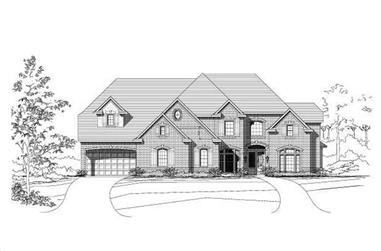 4-Bedroom, 5145 Sq Ft Luxury Home Plan - 156-1417 - Main Exterior
