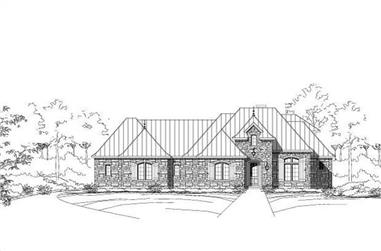3-Bedroom, 3101 Sq Ft Country Home Plan - 156-1420 - Main Exterior