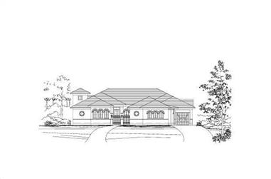 3-Bedroom, 3775 Sq Ft Luxury House Plan - 156-1421 - Front Exterior