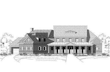 4-Bedroom, 5374 Sq Ft Luxury House Plan - 156-1422 - Front Exterior
