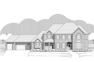 5-Bedroom, 5318 Sq Ft Luxury House Plan - 156-1423 - Front Exterior