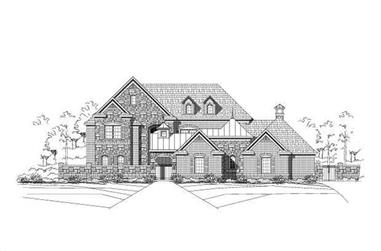 5-Bedroom, 5364 Sq Ft Luxury House Plan - 156-1424 - Front Exterior