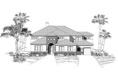 5-Bedroom, 4688 Sq Ft Spanish Home Plan - 156-1427 - Main Exterior
