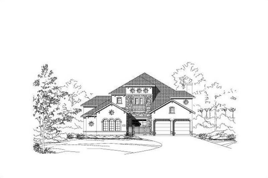 4-Bedroom, 4523 Sq Ft Spanish Home Plan - 156-1429 - Main Exterior