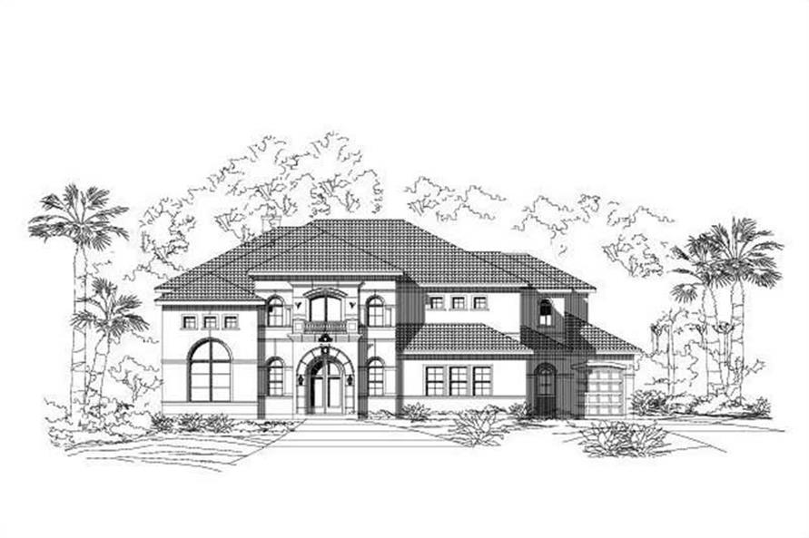 5-Bedroom, 6846 Sq Ft Luxury House Plan - 156-1430 - Front Exterior