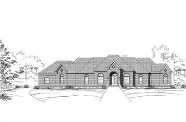 4-Bedroom, 4660 Sq Ft Luxury House Plan - 156-1431 - Front Exterior
