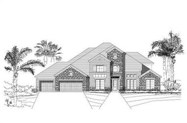 5-Bedroom, 5105 Sq Ft Luxury House Plan - 156-1433 - Front Exterior