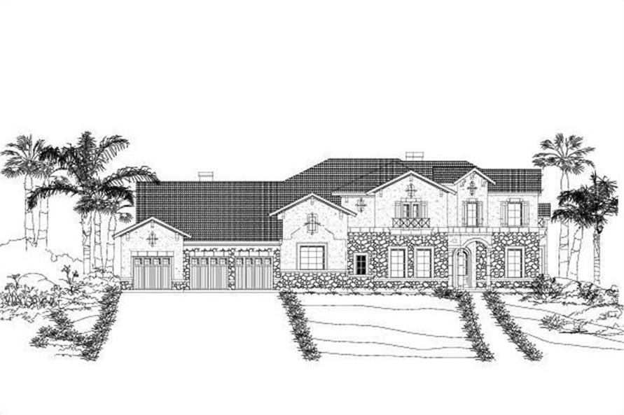 5-Bedroom, 4138 Sq Ft In-Law Suite House Plan - 156-1434 - Front Exterior