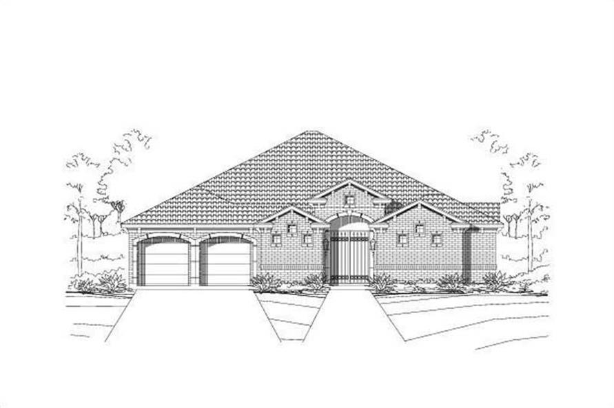 3-Bedroom, 2793 Sq Ft Ranch House Plan - 156-1435 - Front Exterior