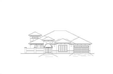 4-Bedroom, 3566 Sq Ft Mediterranean Home Plan - 156-1437 - Main Exterior