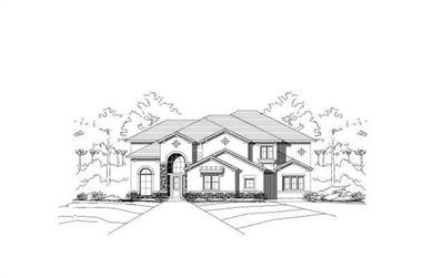 4-Bedroom, 4324 Sq Ft Tuscan House Plan - 156-1438 - Front Exterior