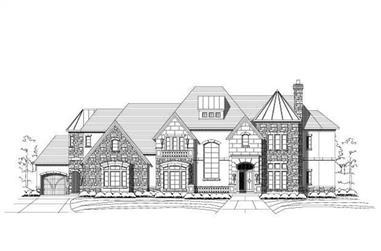 4-Bedroom, 6125 Sq Ft Craftsman Home Plan - 156-1439 - Main Exterior