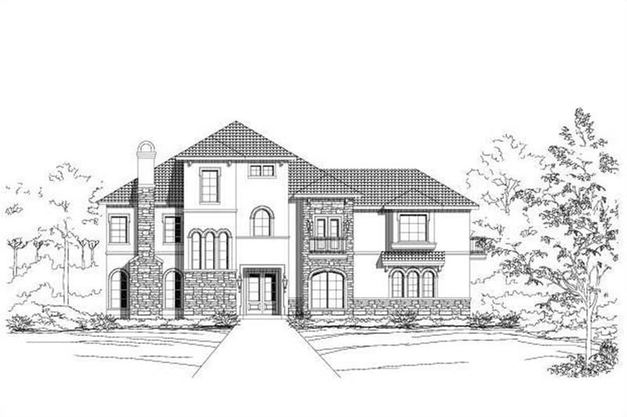 3-Bedroom, 3267 Sq Ft Spanish House Plan - 156-1440 - Front Exterior