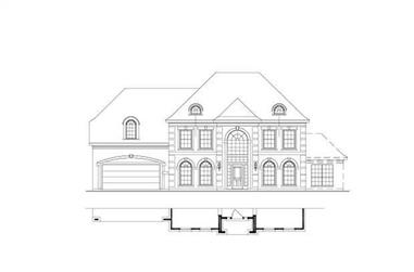 5-Bedroom, 4029 Sq Ft Luxury House Plan - 156-1441 - Front Exterior