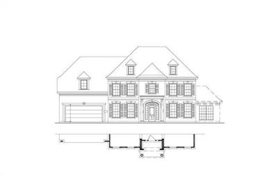 5-Bedroom, 4029 Sq Ft Luxury House Plan - 156-1442 - Front Exterior