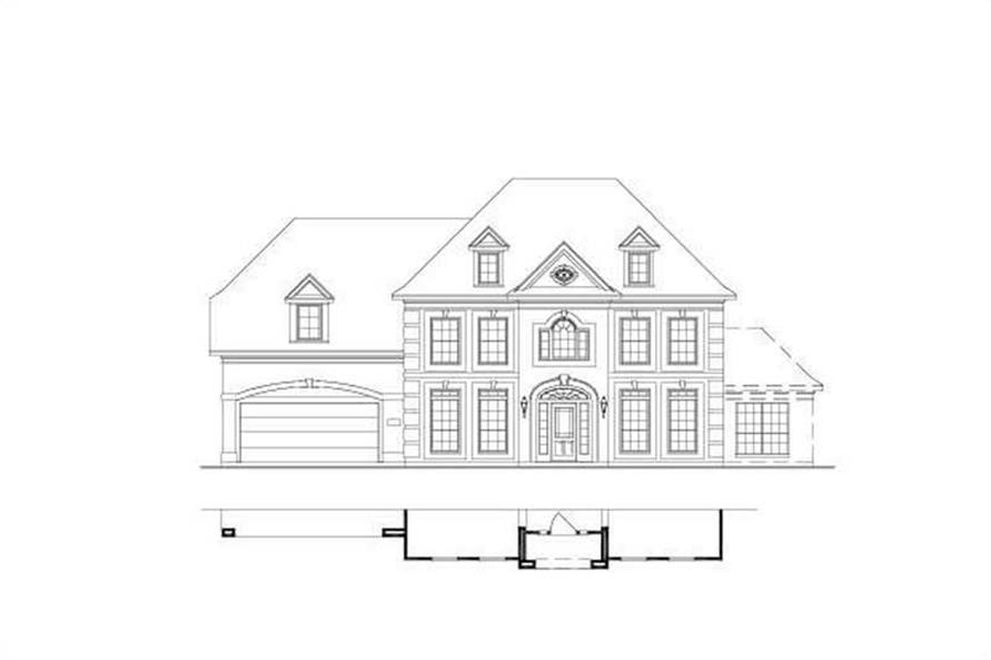 5-Bedroom, 4029 Sq Ft Luxury House Plan - 156-1444 - Front Exterior