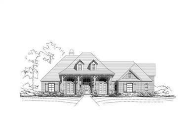 4-Bedroom, 3217 Sq Ft Country Home Plan - 156-1449 - Main Exterior