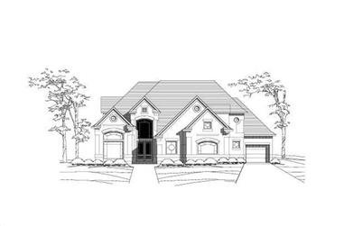 4-Bedroom, 4501 Sq Ft Luxury House Plan - 156-1451 - Front Exterior