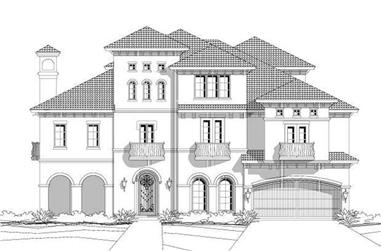 4-Bedroom, 5502 Sq Ft Luxury House Plan - 156-1452 - Front Exterior
