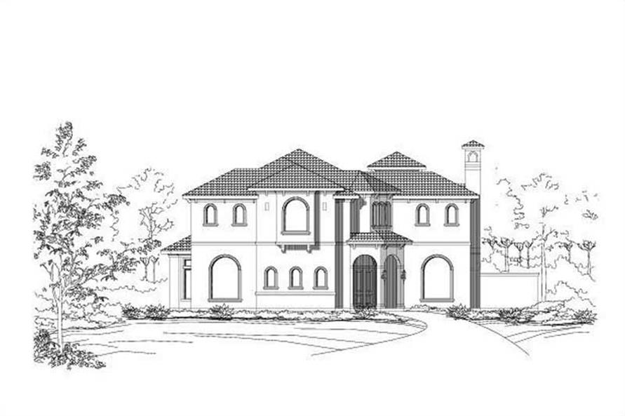4-Bedroom, 5644 Sq Ft Luxury House Plan - 156-1453 - Front Exterior