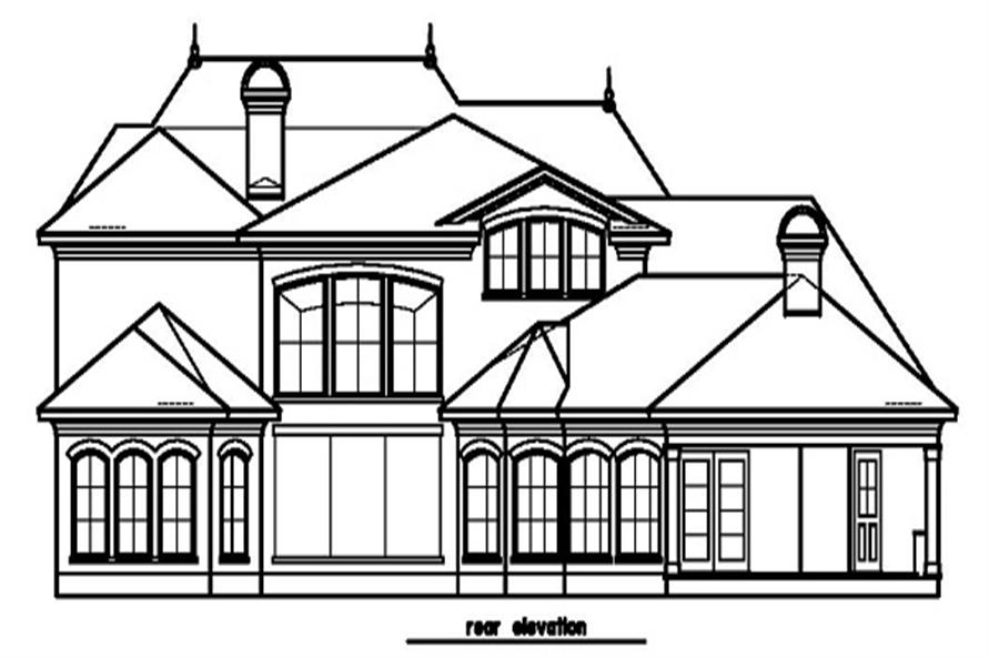 156-1454: Home Plan Rear Elevation