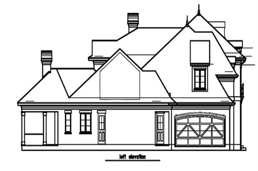 156-1454: Home Plan Left Elevation