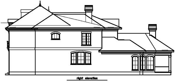 156-1454: Home Plan Right Elevation