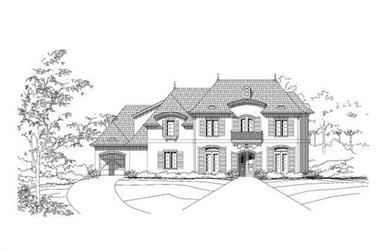 4-Bedroom, 5974 Sq Ft Country House Plan - 156-1454 - Front Exterior