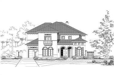 5-Bedroom, 6199 Sq Ft Luxury Home Plan - 156-1455 - Main Exterior