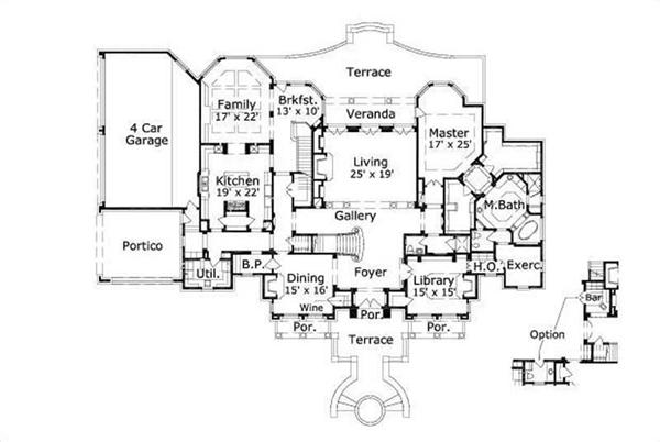 This image shows the living and dining areas along with the master bedroom and bath.