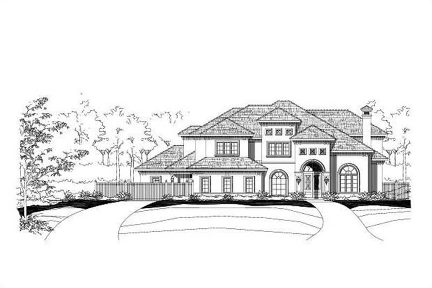 6-Bedroom, 6166 Sq Ft Luxury Home Plan - 156-1457 - Main Exterior