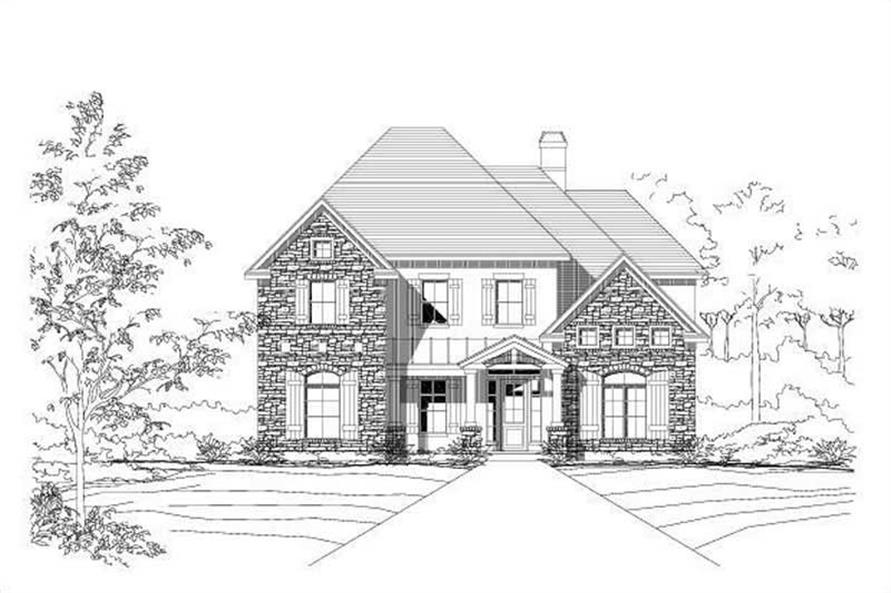 5-Bedroom, 4032 Sq Ft Country Home Plan - 156-1460 - Main Exterior