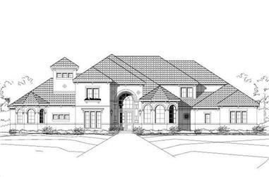 4-Bedroom, 4652 Sq Ft Mediterranean Home Plan - 156-1462 - Main Exterior