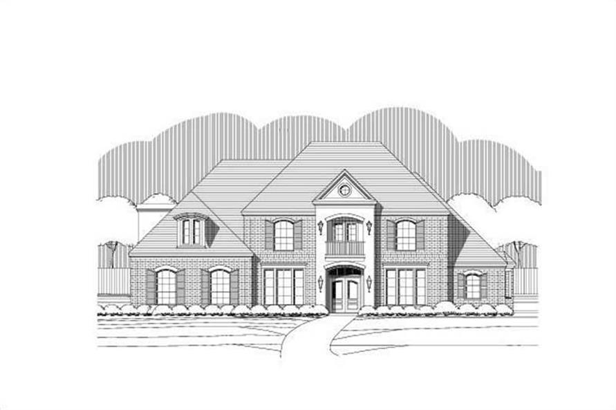 5-Bedroom, 5506 Sq Ft Luxury Home Plan - 156-1465 - Main Exterior