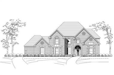 5-Bedroom, 4233 Sq Ft Luxury Home Plan - 156-1467 - Main Exterior