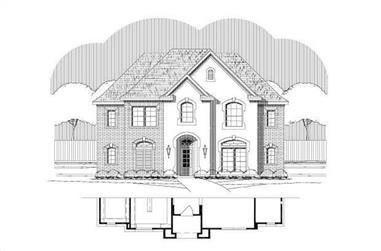4-Bedroom, 3173 Sq Ft Traditional Home Plan - 156-1469 - Main Exterior