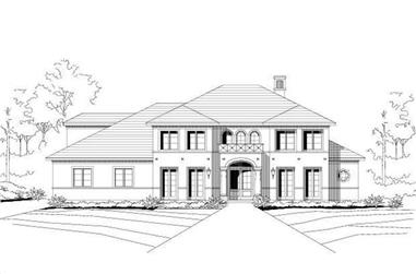 4-Bedroom, 4901 Sq Ft Mediterranean Home Plan - 156-1470 - Main Exterior