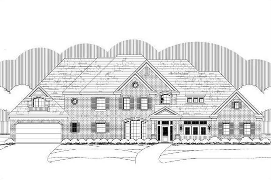 5-Bedroom, 5234 Sq Ft Luxury Home Plan - 156-1471 - Main Exterior