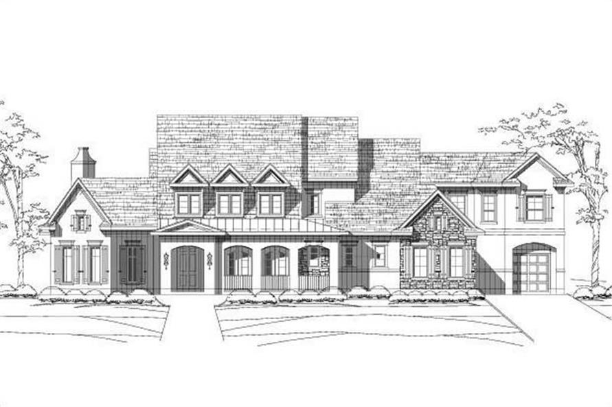 5-Bedroom, 5011 Sq Ft Luxury House Plan - 156-1472 - Front Exterior