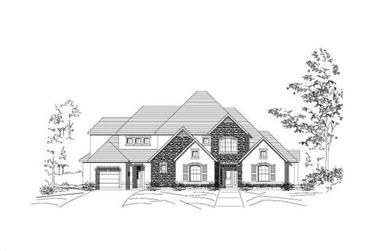 4-Bedroom, 4879 Sq Ft Country House Plan - 156-1474 - Front Exterior