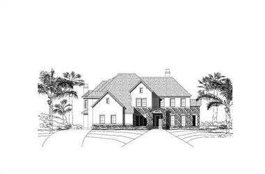 4-Bedroom, 5837 Sq Ft Luxury House Plan - 156-1476 - Front Exterior