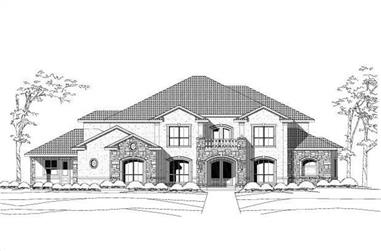 4-Bedroom, 6600 Sq Ft Colonial Home Plan - 156-1479 - Main Exterior