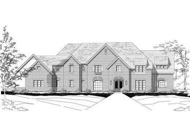 5-Bedroom, 7141 Sq Ft Luxury Home Plan - 156-1480 - Main Exterior