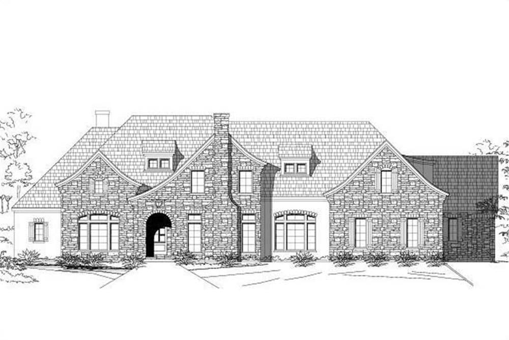 Main image for country house plan # 16373