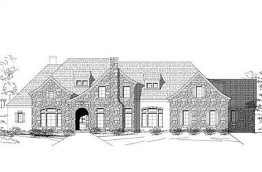 5-Bedroom, 6529 Sq Ft Country Home Plan - 156-1481 - Main Exterior