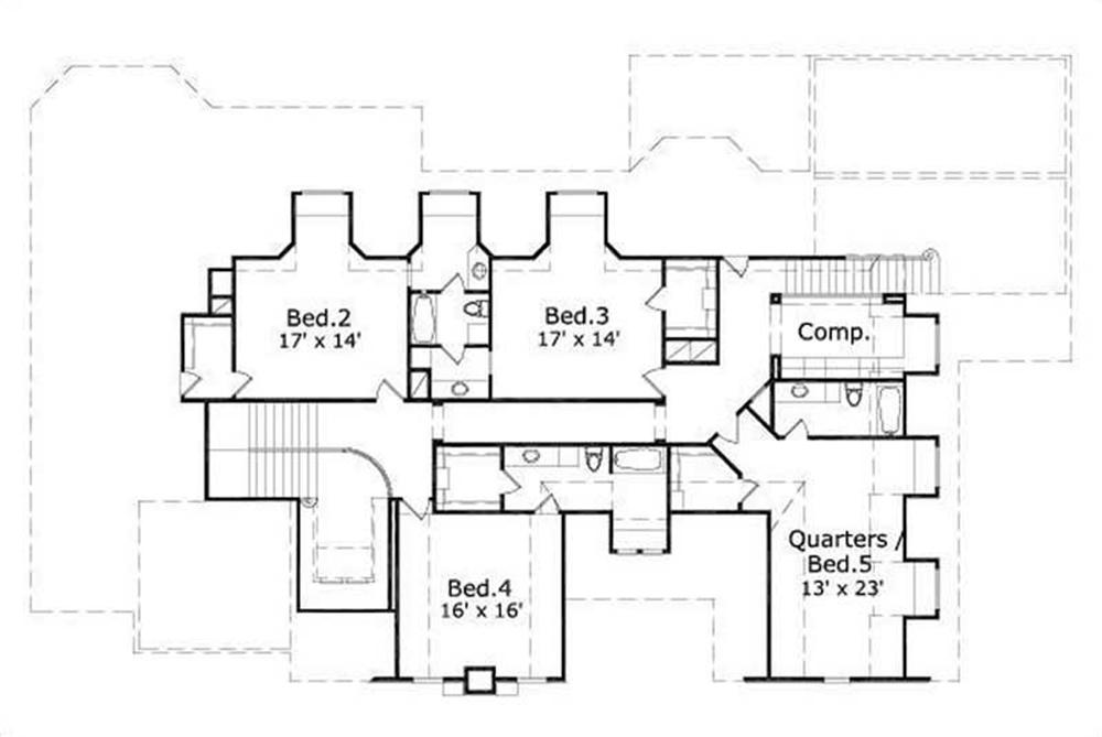 This image shows 4 bedrooms.